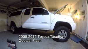 nissan tacoma 2006 2005 2010 toyota tacoma coolant change tutorial youtube