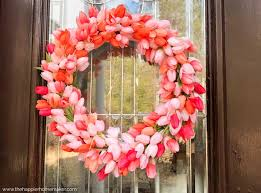 tulip wreath easy diy tulip wreath the happier homemaker