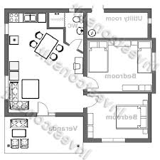 Small Victorian Homes by 2 Bed House Floor Plan Small 640 Wm Nice House Plans Black White