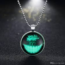 wholesale new fashion mens glowing devil tooth pendant necklace