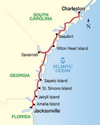 South Carolina travel list images Historic south golden isles cruise map trips pinterest jpg