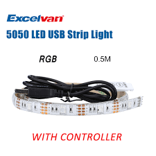 Led Light Strip Controllers by 0 5m 1 6ft 15 Led Light Strip Smd 5050 Usb Power Mini Controller