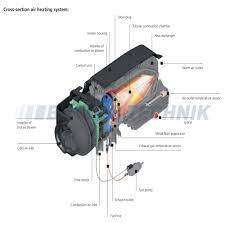 webasto air top evo 40 diesel 12v 4kw universal heater kit 4111387a