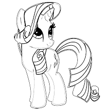 coloring page for my little pony rarity coloring home