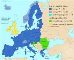 East Coast Time Zone Map by Map Of The Schengen Area Europe U0027s Border Free Travel Zone