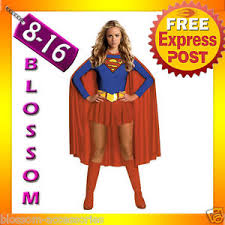 Halloween Costumes Supergirl F95 Ladies Supergirl Super Hero Woman Fancy Halloween