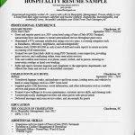 Hospitality Resume Hospitality Resume Template Hospitality Resume Sample Writing