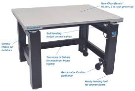vibration isolation table used the tmc cleanbench vibration isolation lab table for use in