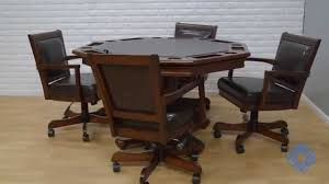 hillsdale ambassador octagon game table and four chairs bellacor