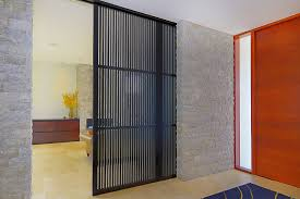sliding room dividers in entry contemporary with sliding closet
