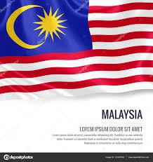 Malasia Flag Malaysia Flag Silky Flag Of Malaysia Waving On An Isolated White