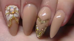acrylic nails and opal crystals youtube