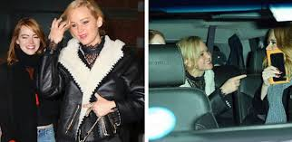 emma stone and jennifer lawrence friends adele jennifer lawrence and emma stone take friendship goals to a