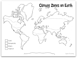 Climate Map Coloring Page | best photos of world climate map printable the weather climate