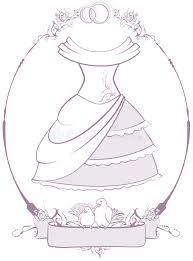 bride wedding dress in frame stock vector image 42421592