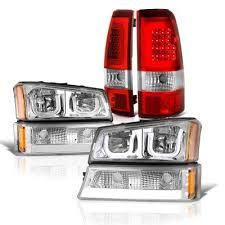 2004 silverado led tail lights chevy silverado 2500 2003 2004 led drl headlights set led tail