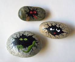 painting rock stone animals nativity sets more hand hand painted