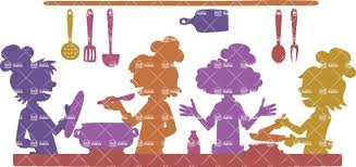 cooks in a restaurant kitchen vector silhouette graphicmama