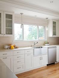 Cabinet In Kitchen Decorating Frosted Glass Cabinet And Pendant Light Also Stainless