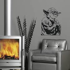Star Wars Home Decorations by Aliexpress Com Buy Large Yoda Star Wars Childrens Bedroom Wall
