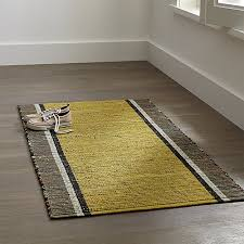 Crate And Barrel Rug Quentin Yellow Cotton Rug Crate And Barrel