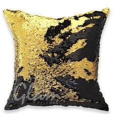 gold black reversible sequin glam pillow glam pillows
