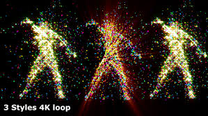 particle fast dance to music dj vj club visuals by 3d videos