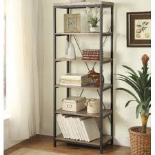Metal Bookcase Rustic Bookcases You U0027ll Love Wayfair