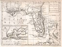 Pensacola Florida Map by File 1763 Gibson Map Of East And West Florida Geographicus
