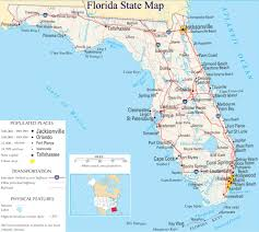 Map Florida Keys by A Large Detailed Map Of Florida State For The Classroom