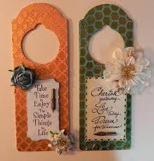 web of creativity door hangers and burlap panels