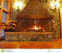 huge burning fireplace royalty free stock image image 35567996