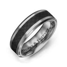 country wedding rings men s tungsten rings personalized for him jewlr