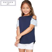 cold shoulder tops hayden stripe tops and blouses kids cold shoulder tees