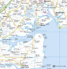 Essex England Map by Location Little Whinging And Vernon U0027s Island