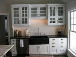 Inimitable Three Drawer Kitchen Cabinets With Black Apron Front - Black laminate kitchen cabinets