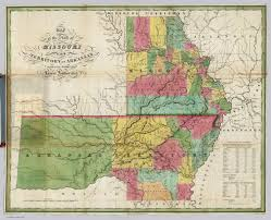 Missouri State Map Missouri And Territory Of Arkansas David Rumsey Historical Map