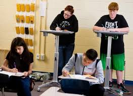 Standing Desks For Students Pine Tree Teacher Uses Standing Desks To Keep Students Engaged