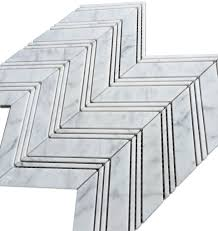 bianco chevron 1x4 honed marble mosaic floor and wall tile