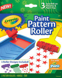 pattern paint roller online india amazon com crayola paint pattern roller toys games