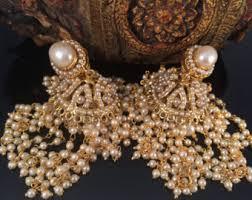 bridal jhumka earrings large jhumkas etsy