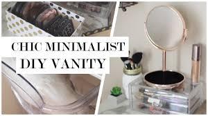 minimalist vanity minimalist makeup vanity diy 50 giveaway youtube