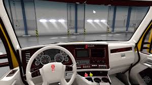 kenworth 2016 white kenworth t680 interior for american truck simulator