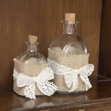 katrinshine decorate bottle in shabby chic diy
