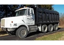 volvo dump truck 1995 white volvo gm wg64 dump truck