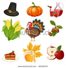 thanksgiving food celebration design autumn stock vector