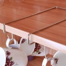 10 hooks mug holder cup hanger under shelf cabinet coffee kitchen