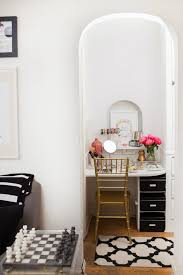 White Vanity Table With Mirror 21 Vanity Tables Beauty Junkies Will Love Brit Co