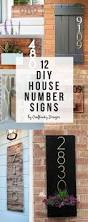 house beautiful change of address diy house number sign diy house numbers number and street