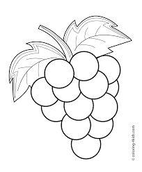 grape 4 coloring page with grapes coloring page omeletta me